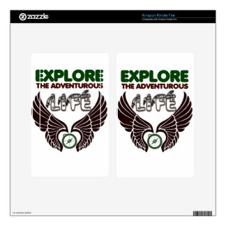 explore Adventure life gift t shirt Kindle Fire Decal