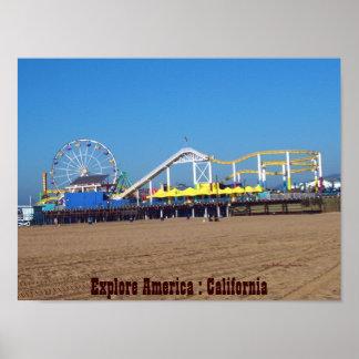 Explore America : California Beaches Poster