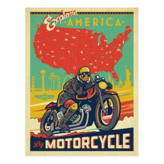 Explore América en motocicleta Postal