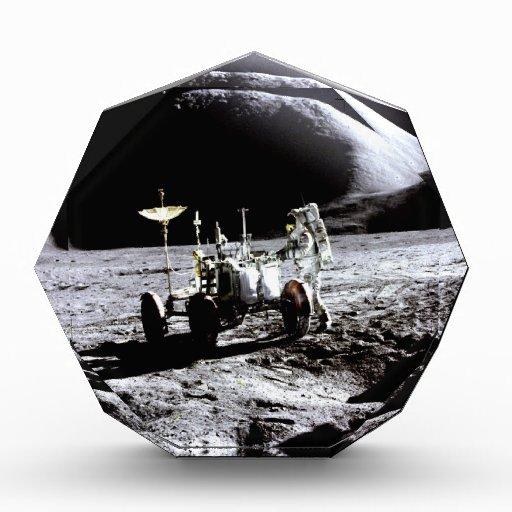 Explore and success moon rover astronaut nasa acrylic award