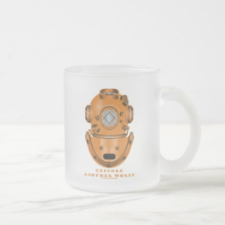 Explore Another World (Deep Diving Helmet) 10 Oz Frosted Glass Coffee Mug