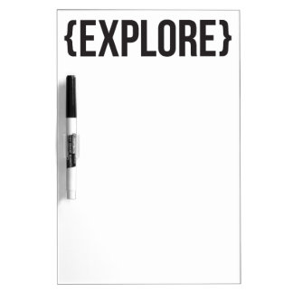 Explore - Bracketed - Black and White Dry-Erase Whiteboards