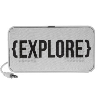 Explore - Bracketed - Black and White Notebook Speakers