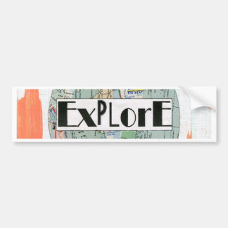 Explore Bumper Sticker