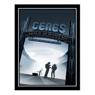 Explore Ceres and the Asteroid Belt Postcard