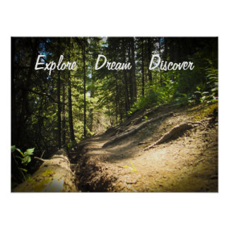 Explore Dream Discover Hiking Poster