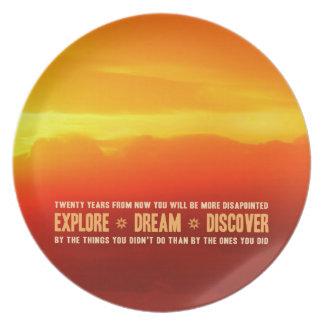 Explore. Dream. Discover. Party Plate
