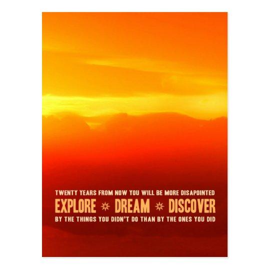 Explore. Dream. Discover. Postcard