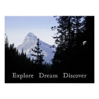 Explore Dream Discover Scenic Mountain Poster