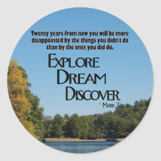 Explore, Dream & Discover Sticker