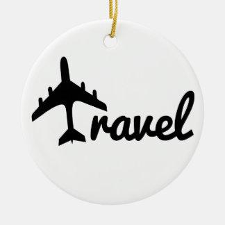 Explore Dream Discover - Travel Ceramic Ornament