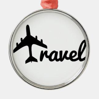 Explore Dream Discover - Travel Metal Ornament