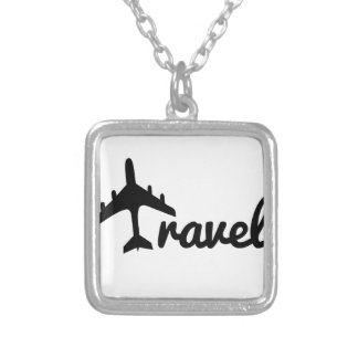 Explore Dream Discover - Travel Square Pendant Necklace