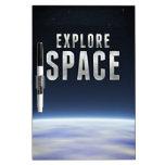 Explore el espacio pizarras