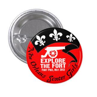 """""""Explore el fuerte, mayo de 2012"""" botón del paseo Pin Redondo De 1 Pulgada"""