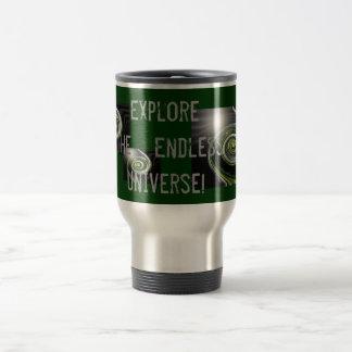 ¡Explore el universo sin fin! Taza