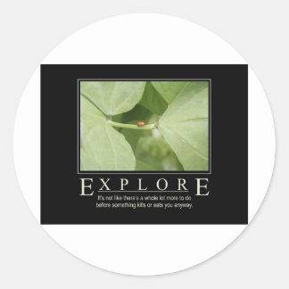 Explore_Garden Series1 Etiquetas Redondas