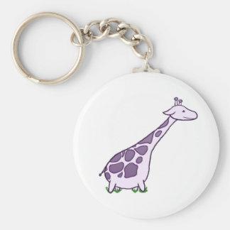Explore Giraffe Basic Round Button Keychain