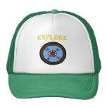 EXPLORE - happy camper compass Mesh Hat