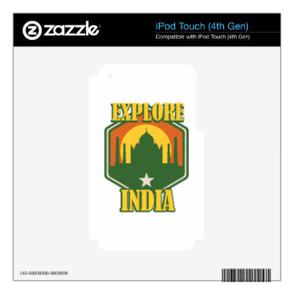 Explore India iPod Touch 4G Skin