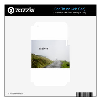 explore iPod touch 4G skin