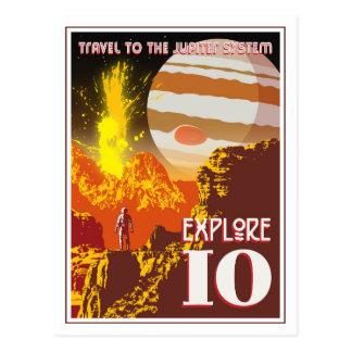 Explore la luna volcánica Io de Júpiter Tarjetas Postales