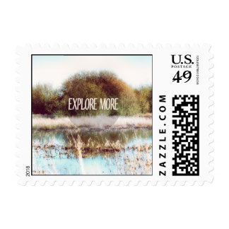 Explore More wilderness Postage Stamp