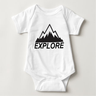 Explore Mountains Nature And  Wilderness Baby Bodysuit