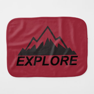 Explore Mountains Nature And  Wilderness Baby Burp Cloth