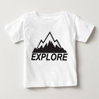 Explore Mountains Nature And  Wilderness Baby T-Shirt