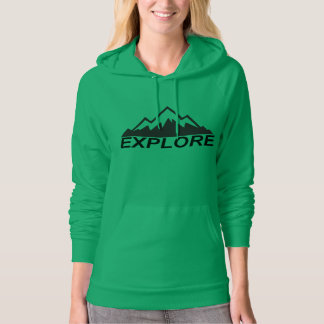 Explore Mountains Nature And  Wilderness Hoodie