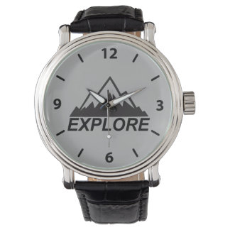 Explore Mountains Nature And  Wilderness Wrist Watch