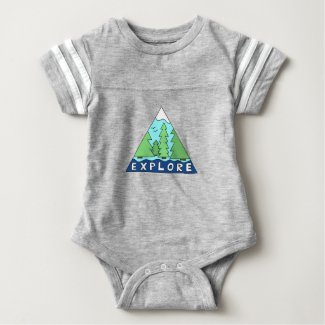 Explore Nature Outdoors Wilderness Mountains Baby Bodysuit