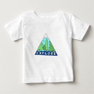 Explore Nature Outdoors Wilderness Mountains Baby T-Shirt