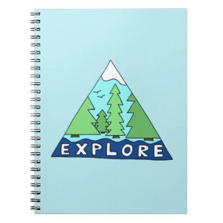 Explore Nature Outdoors Wilderness Mountains Spiral Notebook