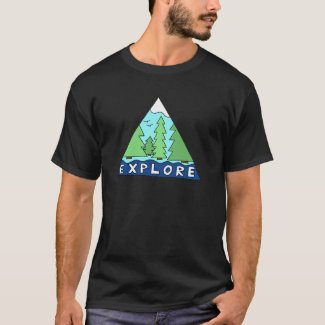 Explore Nature Outdoors Wilderness Mountains T-Shirt