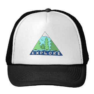 Explore Nature Outdoors Wilderness Mountains Trucker Hat