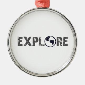 Explore Silver-Colored Round Decoration