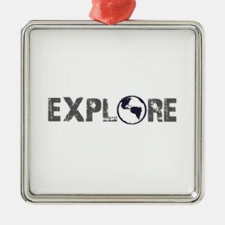 Explore Silver-Colored Square Decoration