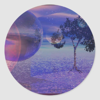 Explore Round Sticker