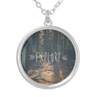 EXPLORE SILVER PLATED NECKLACE