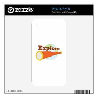 Explore Decal For The iPhone 4