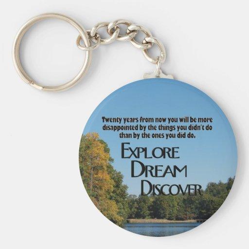 Explore, soñe y descubra el llavero