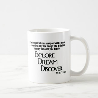 Explore, soñe y descubra la taza