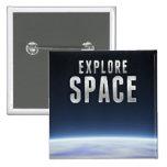 Explore Space Pinback Button