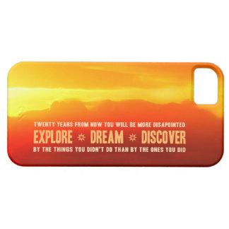 Explore. Sueño. Descubra iPhone 5 Carcasas