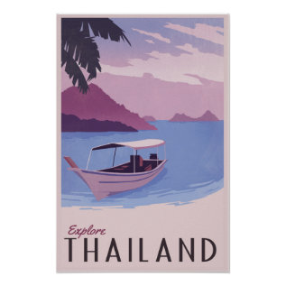 Explore Thailand Poster at Zazzle