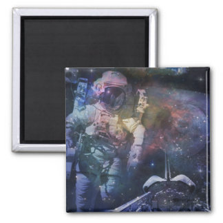 Explore the Beauty of Space 2 Inch Square Magnet