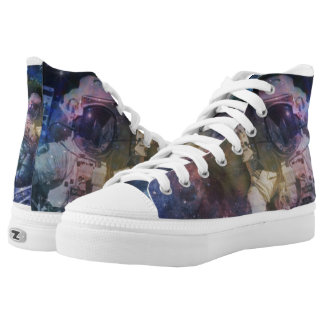 Explore the Beauty of Space High-Top Sneakers