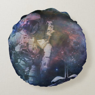 Explore the Beauty of Space Round Pillow